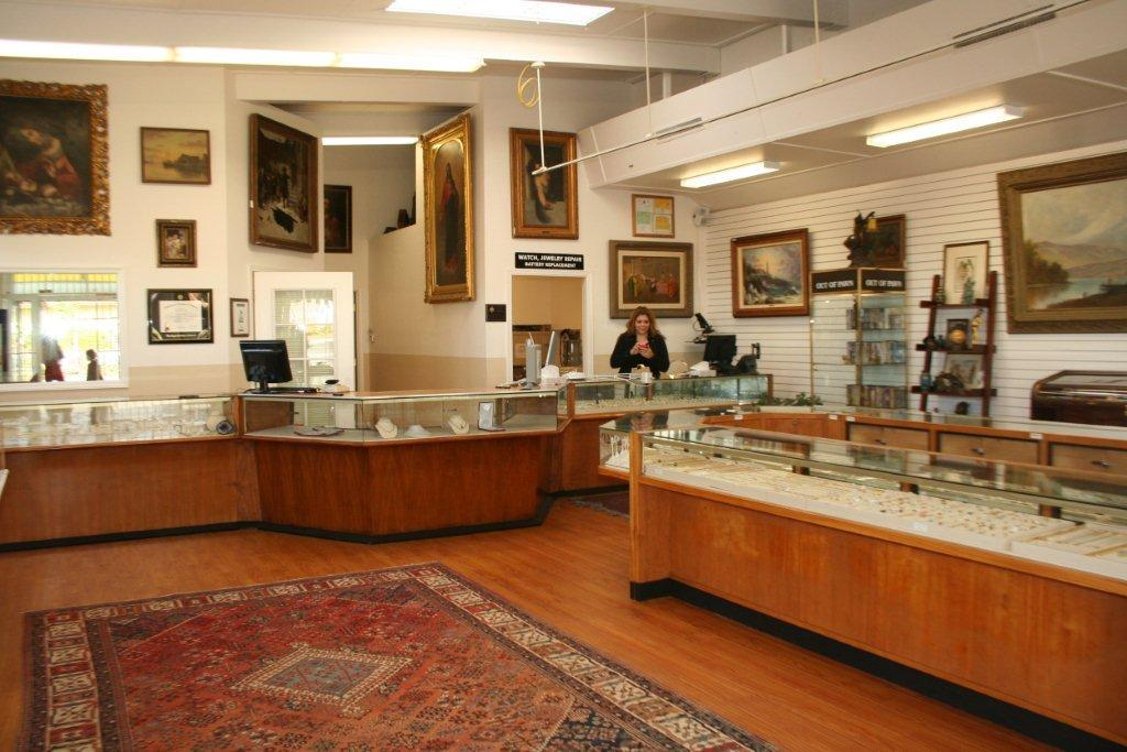 Redwood City pawn shop interior
